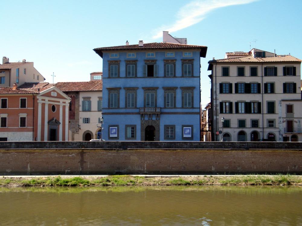 Leopardi - Pisa - Lungarno - Palazzo Blu - Palazzo Giuli Rosselmini Gualandi