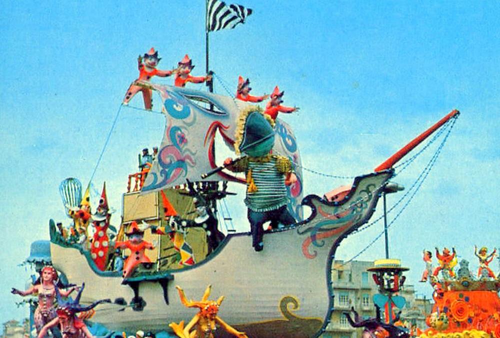 """Carnevale di Viareggio 1973 - """"Viareggio in vista"""" di S.Baroni - 1° premio"""