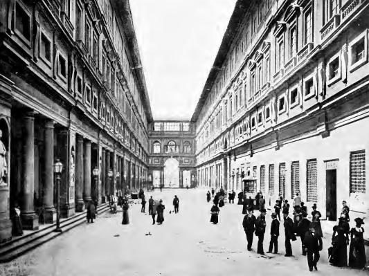 """Firenze - Palazzo degli Uffizi in una foto tratta dal libro """"Firenze"""" di Tarchiani Nello, 1878"""