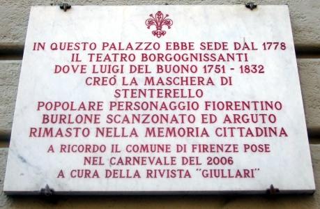 Firenze - Targa Teatro Borgognissanti