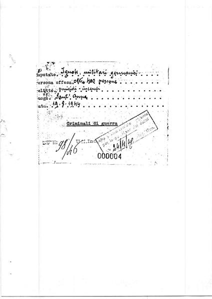 Primo fascicolo processuale - Strage S.Anna di Stazzema - pag. 000004