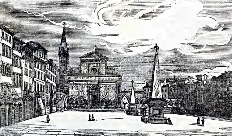 Firenze - S.Maria Novella - immagine tratta da Guida di Firenze di A.Bettii 1864