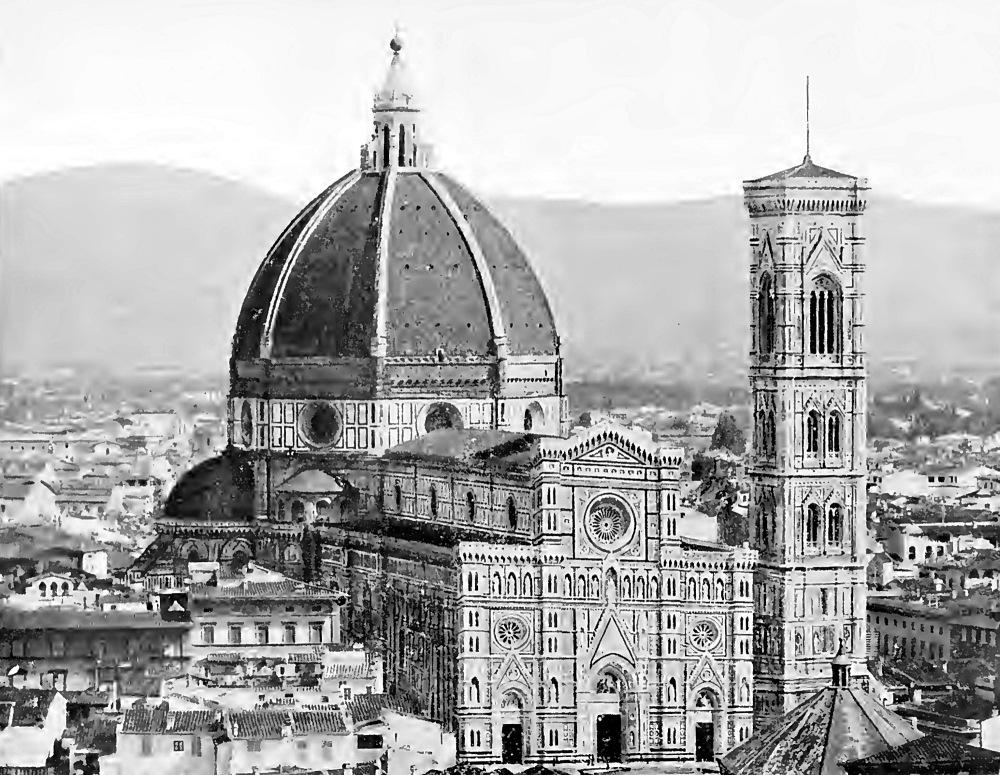 """Firenze - Duomo - Foto tratta da """"Firenze"""" di Nello Tarchiani - primi anni del 1900 - Istituto Italiano d'Arti Grafiche Editore"""